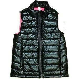 IDEOLOGY Girls Black/Pink Medium Puffer Vest